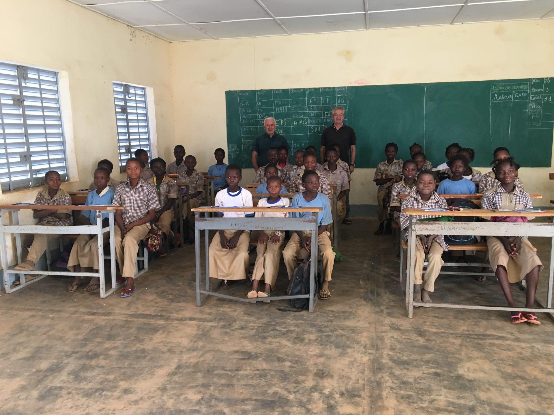 classe de sixième école Dano Burkina Faso